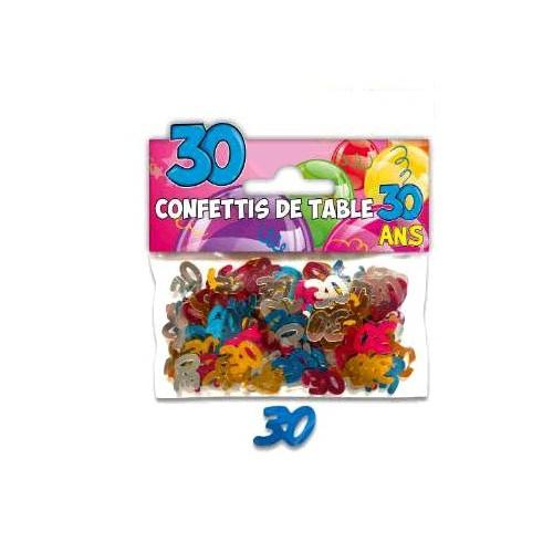 CONFETTIS TABLE 30 ANS