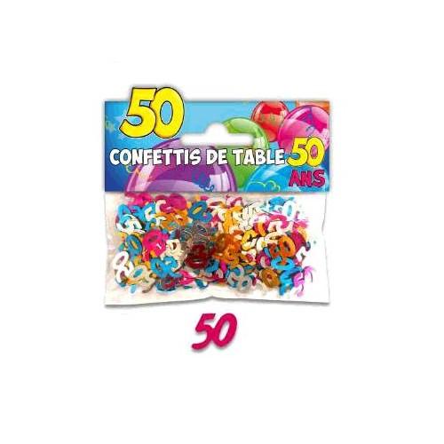CONFETTIS TABLE 50 ANS