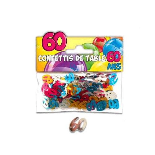CONFETTIS TABLE 60 ANS