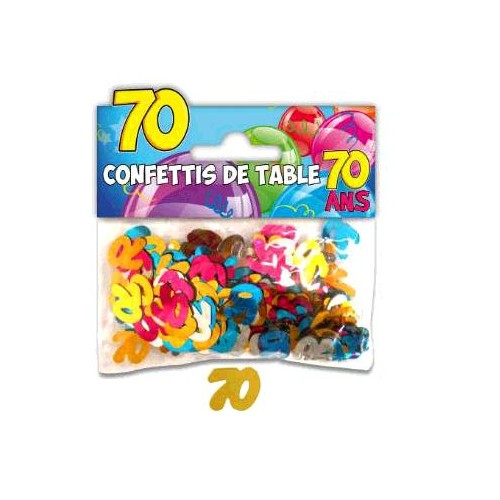CONFETTIS TABLE 70 ANS