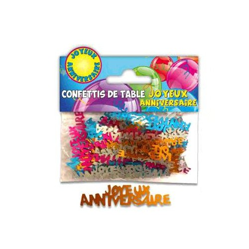 CONFETTIS TABLE JOYEUX ANNIVERSAIRE