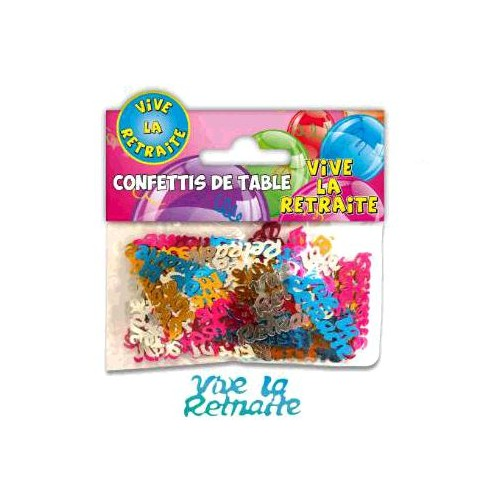 CONFETTIS TABLE VIVE LA RETRAITE