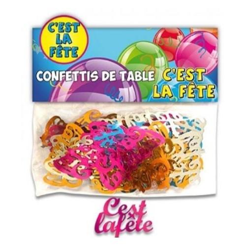 CONFETTIS TABLE C'EST LA FETE