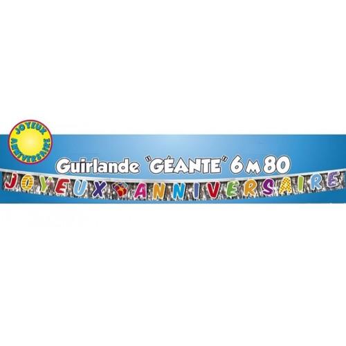 GUIRLANDE LETTRES JOYEUX ANNIVERSAIRE 6.80M