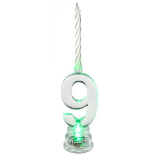 BOUGIE 9 ANS LED TRANSPARENT
