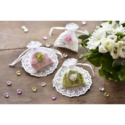 CONFETTIS ROSE BLANC 20 PIECES