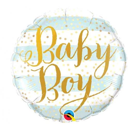BALLON ALU BABY BOY DIAMETRE 45CM