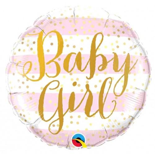 BALLON ALU BABY GIRL DIAMETRE 45CM