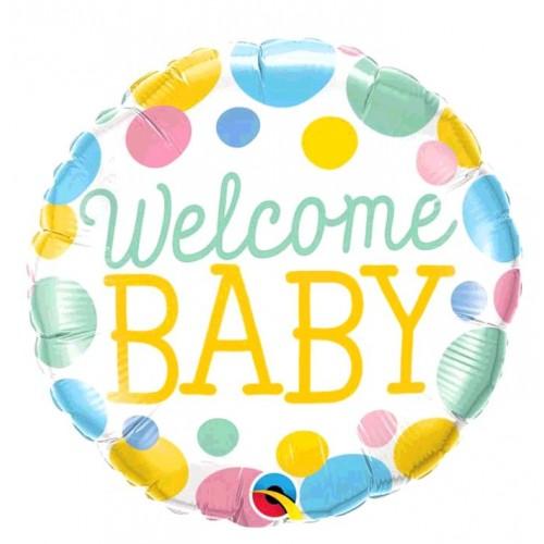 BALLON WELCOME BABY POIS DIAMETRE 45CM