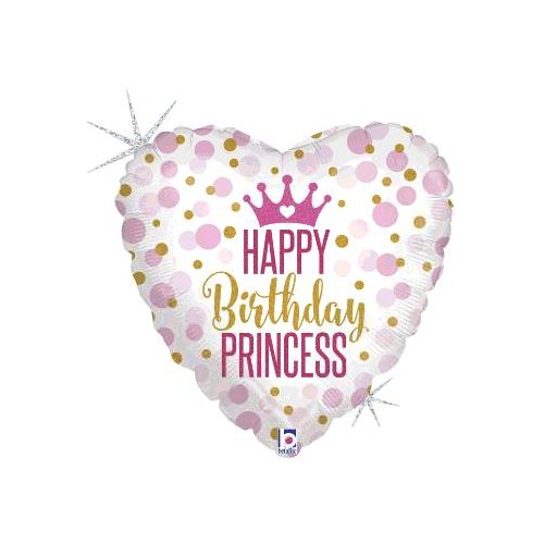 "BALLON ALU 18""  HAPPY BIRTHDAY PRINCESS"