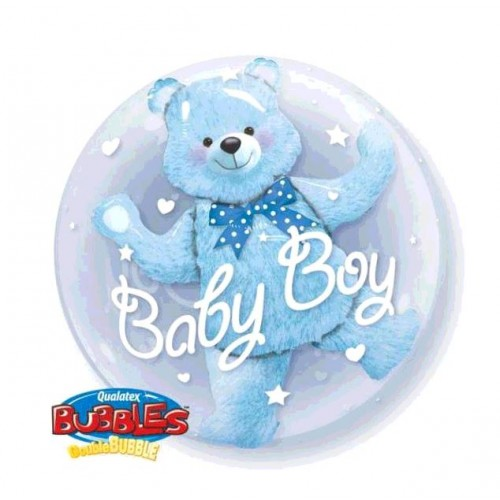 BALLON BUBBLE BABY BLUE BEAR