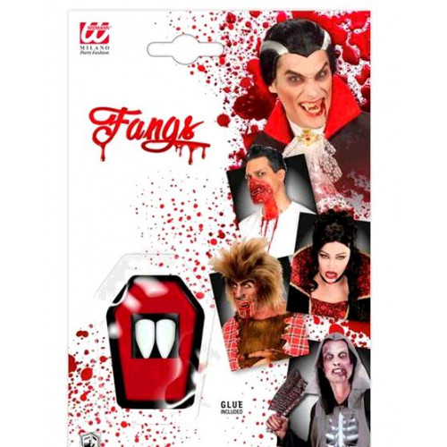 CARTE 2 DENTS VAMPIRE ADHESIFS
