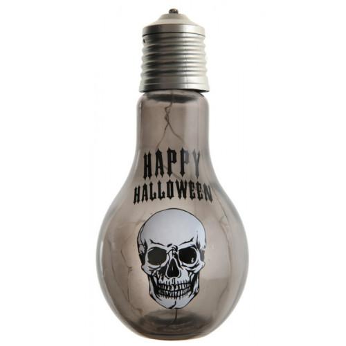 LAMPE TETE DE MORT NOIRE