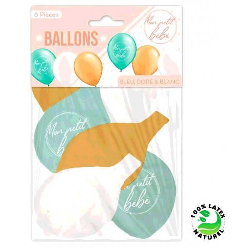 6 BALLONS BABY SHOWER GARCON