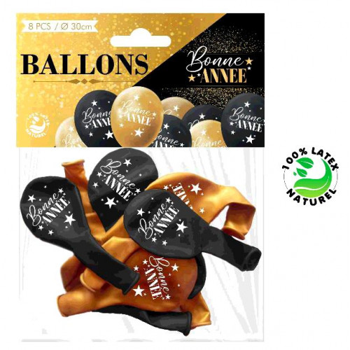 8 BALLONS BONNE ANNEE
