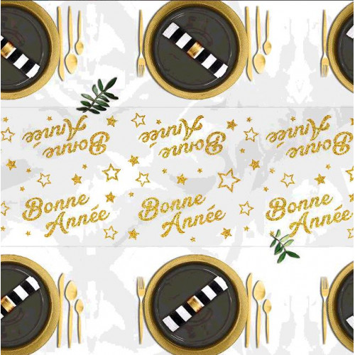 CHEMIN DE TABLE BONNE ANNEE