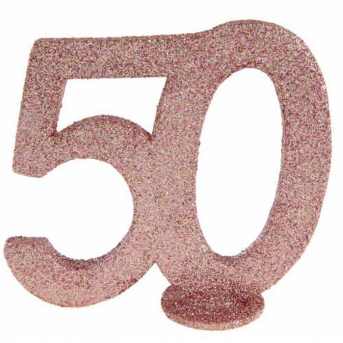 CENTRE DE TABLE CHIFFRE ANNIVERSAIRE 50 ANS
