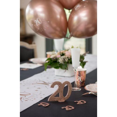 CENTRE DE TABLE CHIFFRE ANNIVERSAIRE 60 ANS ROSE GOLD