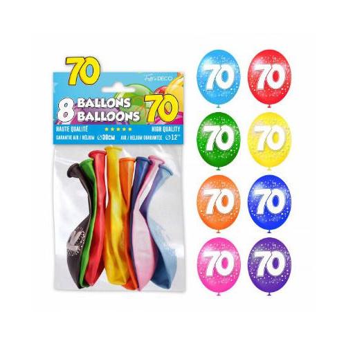 8 BALLONS 70 ANS