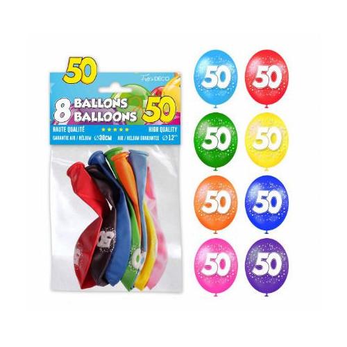 8 BALLONS 50 ANS