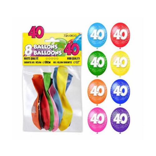 8 BALLONS 40 ANS