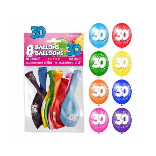 8 BALLONS 30 ANS