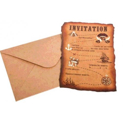 8 INVIATIONS PIRATE