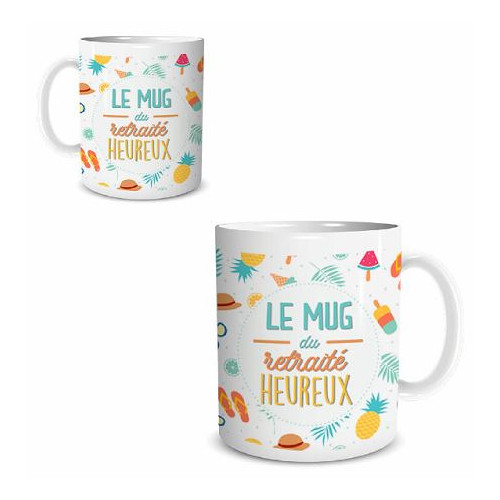 "MUG ""RETRAITE HEUREUX"""
