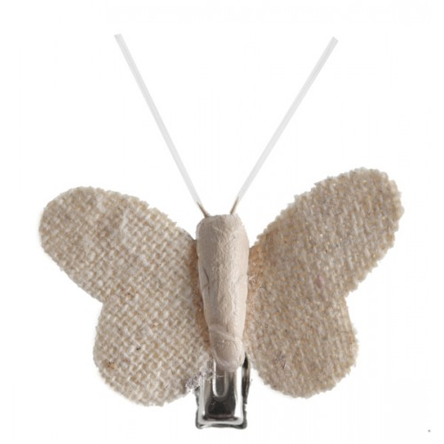 4 MINI PAPILLON JUTE CLIP