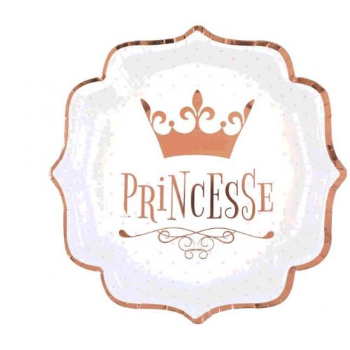 10 ASSIETTES PRINCESSES ROSE GOLD