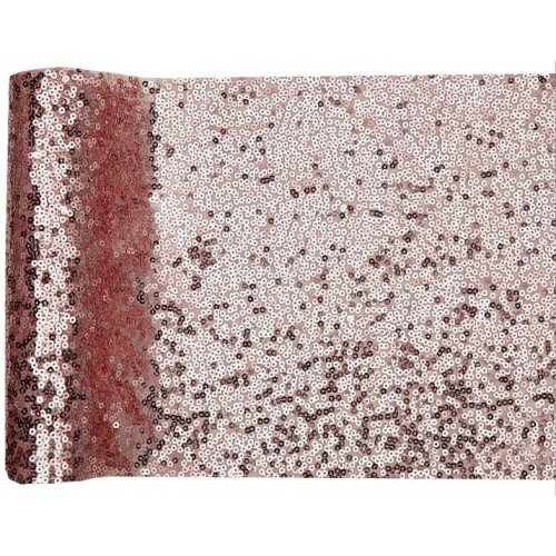 CHEMIN TABLE SEQUINS ROSE GOLD 3 METRES