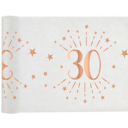 CHEMIN TABLE AGE 30 ANS ROSE GOLD
