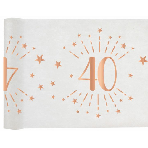 CHEMIN TABLE AGE 40 ANS ROSE GOLD