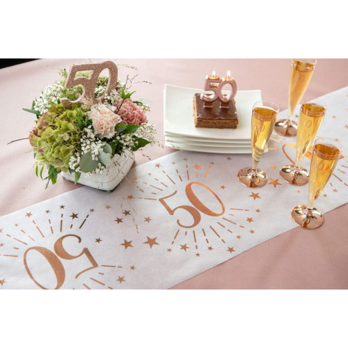 CHEMIN TABLE AGE 50 ANS ROSE GOLD
