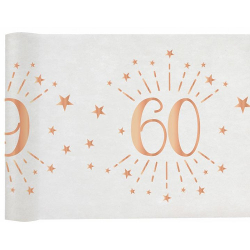 CHEMIN TABLE AGE 60 ANS ROSE GOLD
