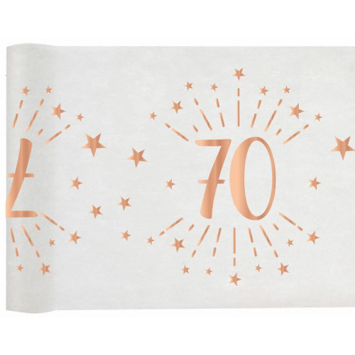 CHEMIN TABLE AGE 70 ANS ROSE GOLD