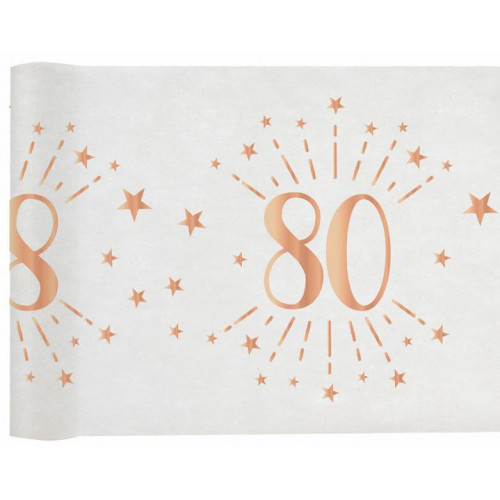CHEMIN TABLE AGE 80 ANS ROSE GOLD