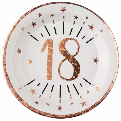 10 ASSIETTES AGE 18 ANS ROSE GOLD