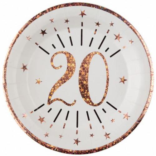 10 ASSIETTES AGE 20ANS ROSE GOLD