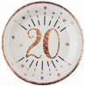 10 ASSIETTES AGE 20ANS ROSE GOLD