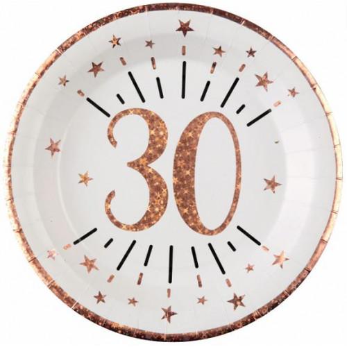 10 ASSIETTES AGE 30 ANS ROSE GOLD