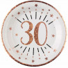 10 ASSIETTES AGE 30 ANS ROSE GOLD