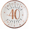 10 ASSIETTES AGE 40 ANS ROSE GOLD