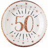 10 ASSIETTES AGE 50 ANS ROSE GOLD
