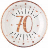 10 ASSIETTES AGE 70 ANS ROSE GOLD