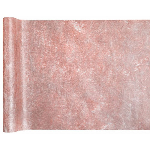 CHEMIN TABLE FANON METAL ROSE GOLD