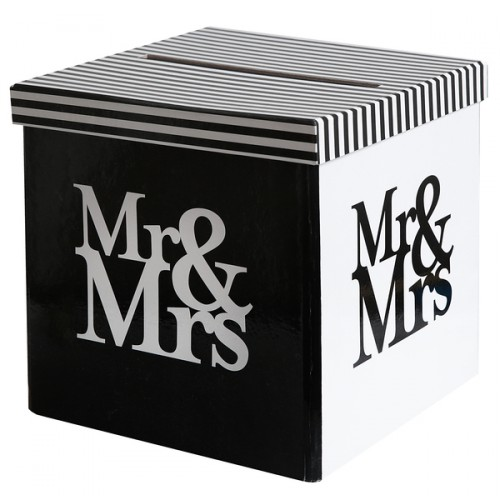 TIRELIRE MR & MRS BLC/NOIR