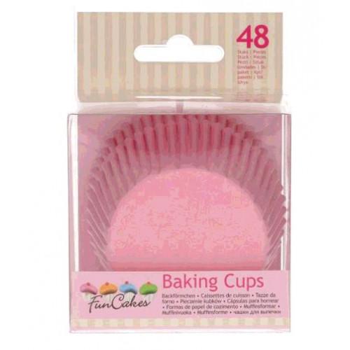 48 CAISSETTES A CUPCAKE ROSE CLAIR