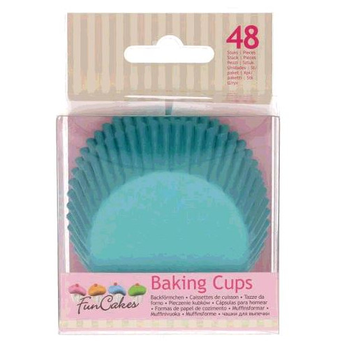 48 CAISSETTES A CUPCAKE TURQUOISE