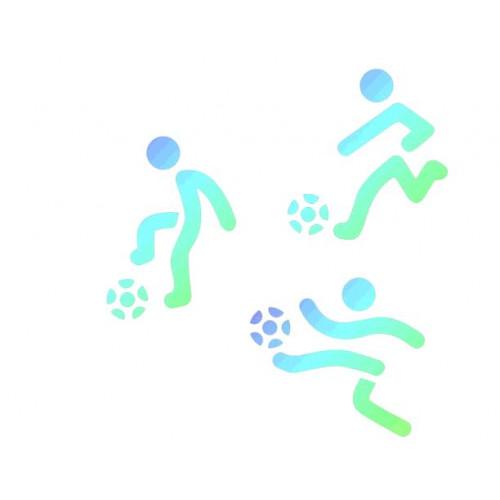 3 POCHOIRS GATEAUX FOOTBALL